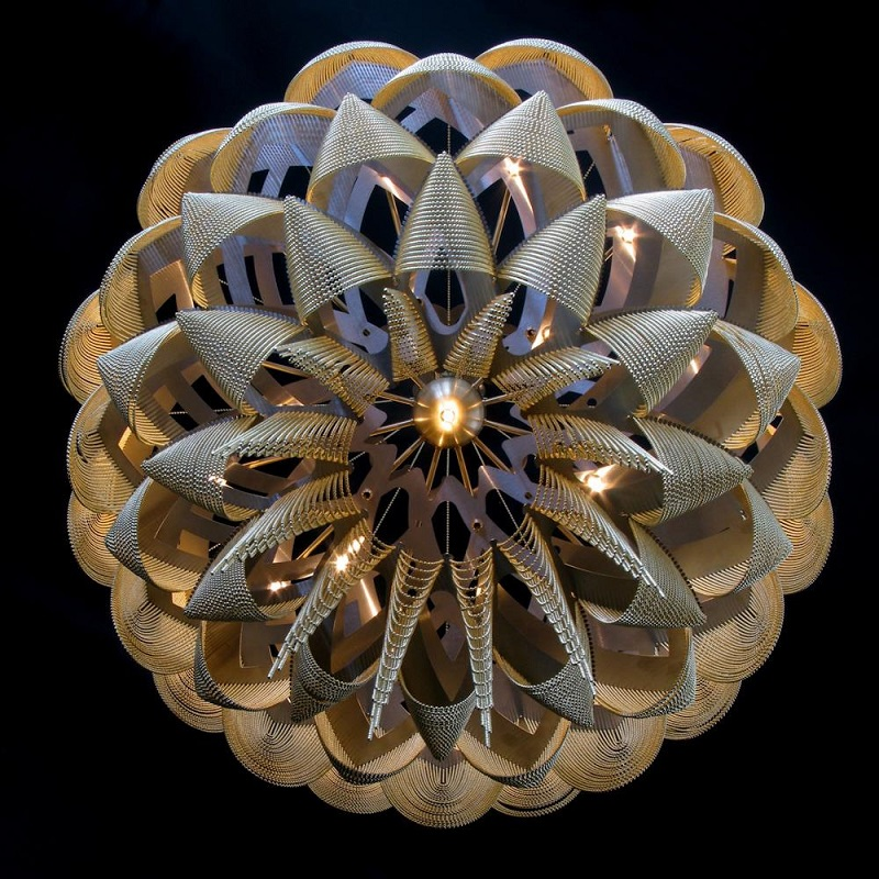 New Design Contemporary Stainless Steel Chandelier for Hotel/ Meeting Room/Banquet Hall Decoration