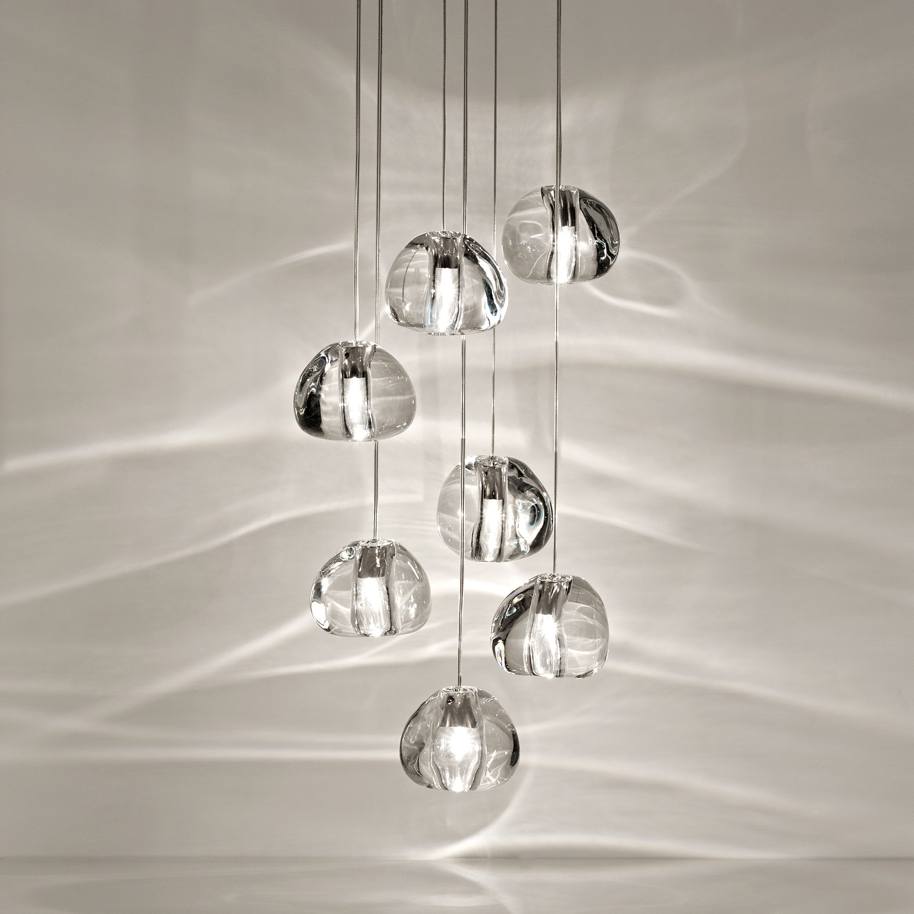 Mizu Crystal Glass Chandelier Landscape Lamps Led Lighting