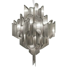 Metal Aluminium Chain Chrome Chandelier