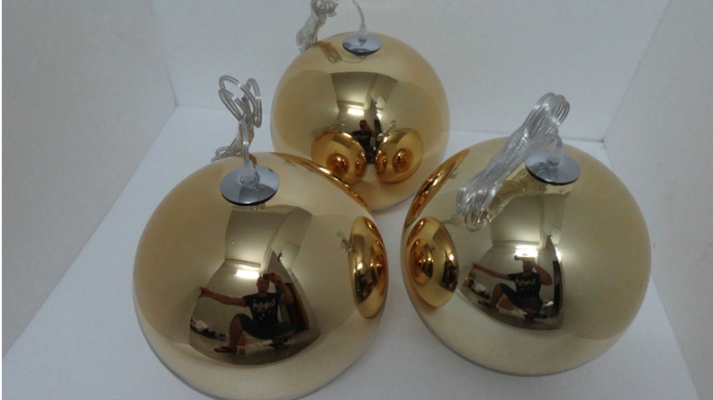 Tom Dixon Copper ball pendant lamp -4026101- (3)