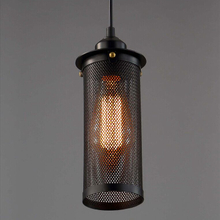 Interior decoration Retro rustic Style restaurant industrial vintage cage pendant lamp