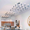 New design interesting structure chain chandelier with many bulbs