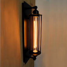 Antique retro rustic Loft American country style vintage industrial wall lamp