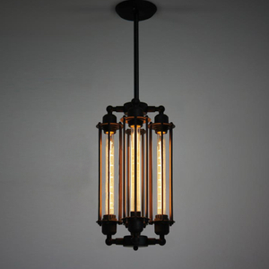 Loft American country style vintage industrial antique retro rustic chandelier light