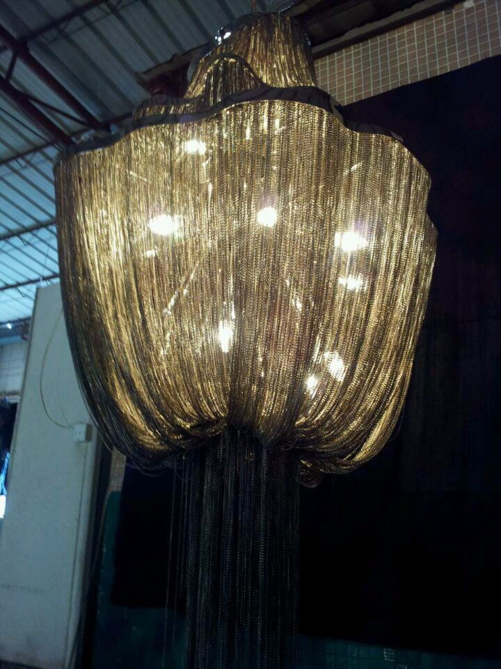 Atlantis Suspension Light With Three Tiers Chain Chandelier