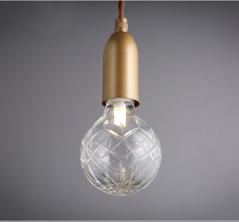 Elegant Carving glod glass suspension light fixture from china lighting manufacture factory