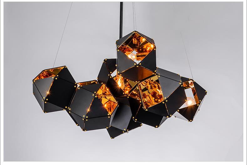 Modern designer gold aluminum pendant lighting for living room kitchen lighting