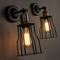 RH Retro Metal Wall Sconce Iron Cage Industrial Wall Lamp Edison Light