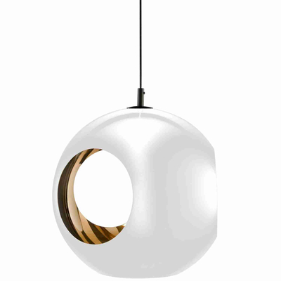 Simple design popular white mental ball pendant light with holes