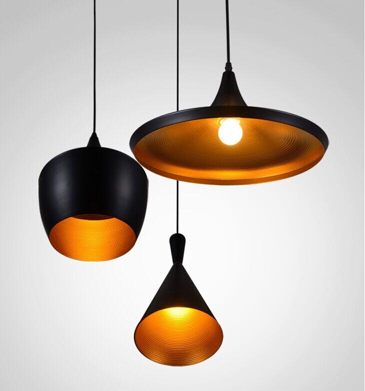 Modern Tom Dixon Beat Pendant Light Aluminum Suspension Lighting 4014101